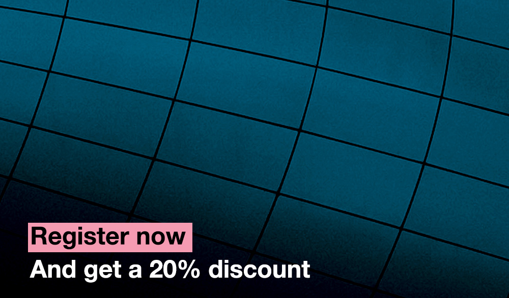 Register now and get a 20% discount